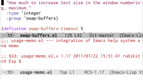 swap-buffers el : 【多分割対応】ウィンドウを入れ替える新しい